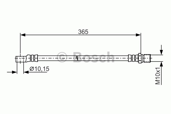 Flexible de frein - BOSCH - 1 987 476 412
