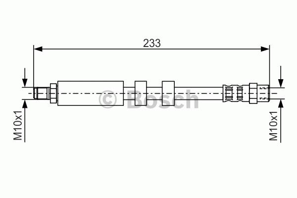 Flexible de frein - BOSCH - 1 987 476 418