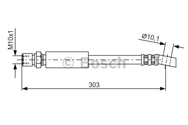 Flexible de frein - BOSCH - 1 987 476 426