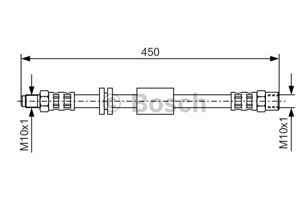 Flexible de frein - BOSCH - 1 987 476 443