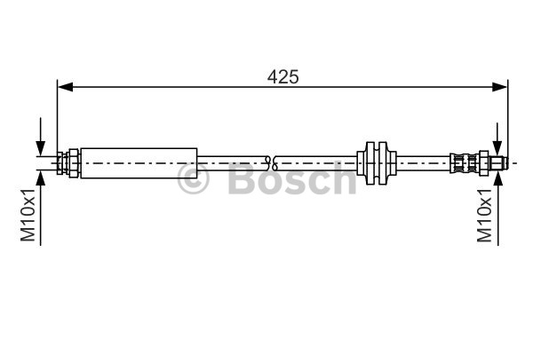 Flexible de frein - BOSCH - 1 987 476 451