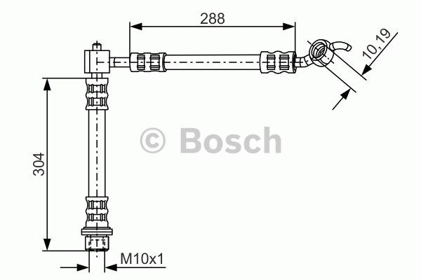 Flexible de frein - BOSCH - 1 987 476 452