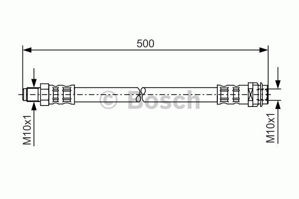 Flexible de frein - BOSCH - 1 987 476 453
