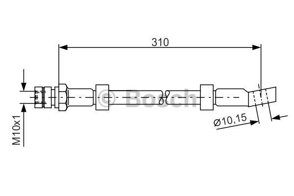 Flexible de frein - BOSCH - 1 987 476 464