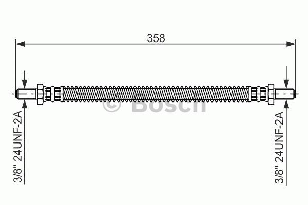 Flexible de frein - BOSCH - 1 987 476 467