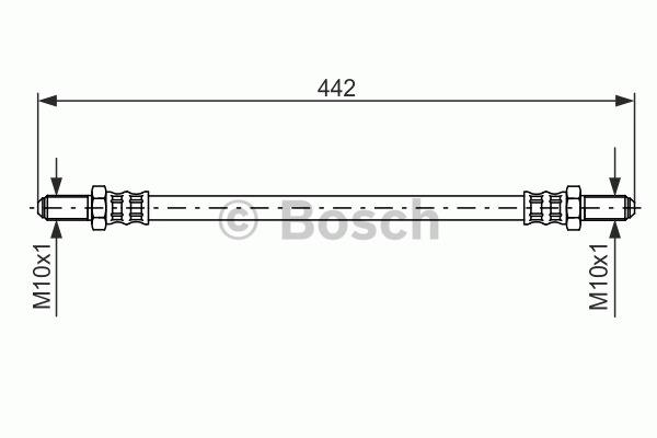 Flexible de frein - BOSCH - 1 987 476 469