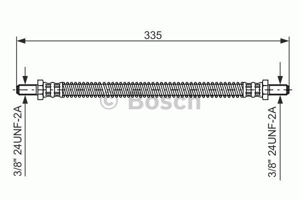 Flexible de frein - BOSCH - 1 987 476 470
