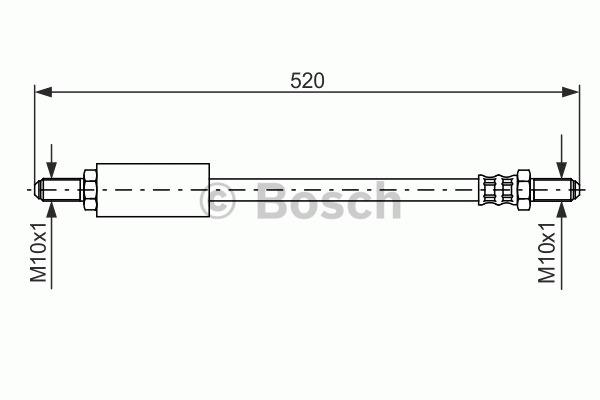 Flexible de frein - BOSCH - 1 987 476 471