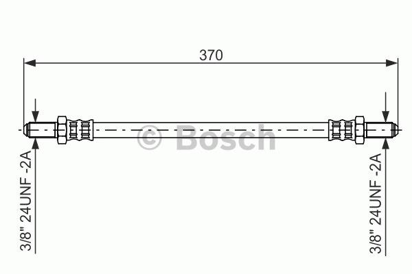 Flexible de frein - BOSCH - 1 987 476 475