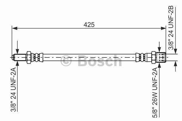 Flexible de frein - BOSCH - 1 987 476 476