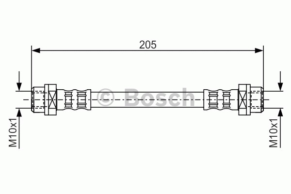 Flexible de frein - BOSCH - 1 987 476 477