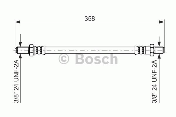 Flexible de frein - BOSCH - 1 987 476 480