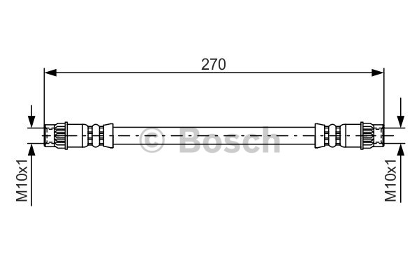 Flexible de frein - BOSCH - 1 987 476 493