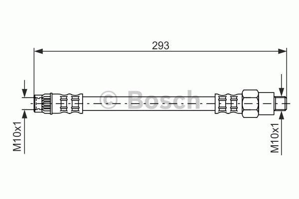 Flexible de frein - BOSCH - 1 987 476 494