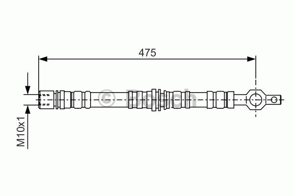 Flexible de frein - BOSCH - 1 987 476 498