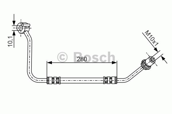 Flexible de frein - BOSCH - 1 987 476 504