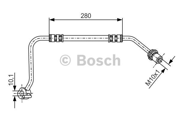 Flexible de frein - BOSCH - 1 987 476 505
