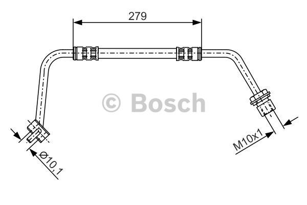 Flexible de frein - BOSCH - 1 987 476 506