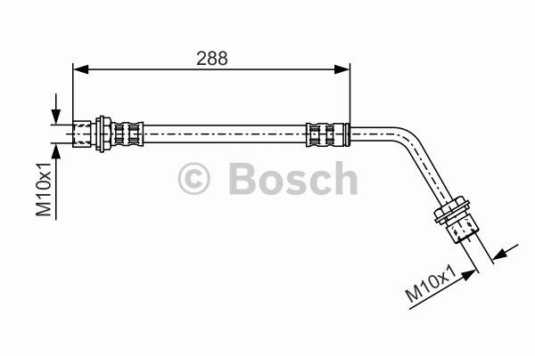 Flexible de frein - BOSCH - 1 987 476 508