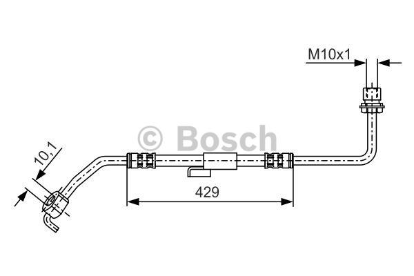 Flexible de frein - BOSCH - 1 987 476 511