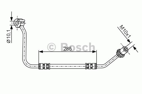 Flexible de frein - BOSCH - 1 987 476 512