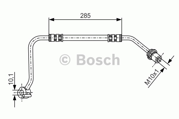 Flexible de frein - BOSCH - 1 987 476 513