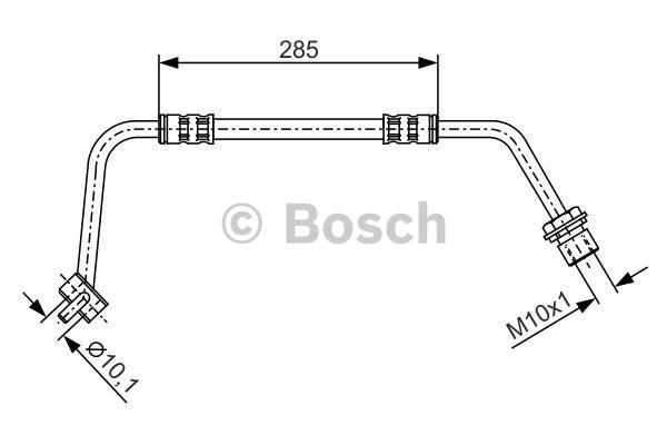Flexible de frein - BOSCH - 1 987 476 514