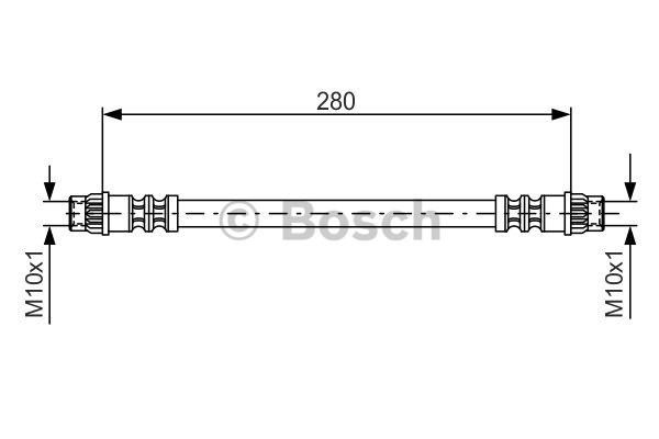 Flexible de frein - BOSCH - 1 987 476 517