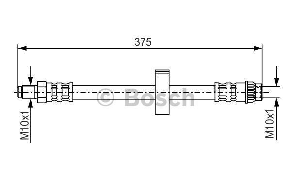 Flexible de frein - BOSCH - 1 987 476 518