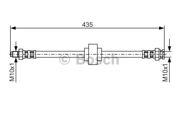 Flexible de frein - BOSCH - 1 987 476 521