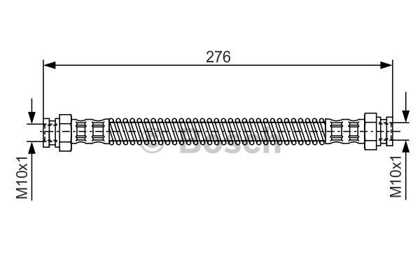 Flexible de frein - BOSCH - 1 987 476 523