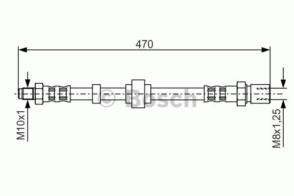 Flexible de frein - BOSCH - 1 987 476 524