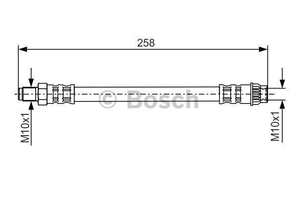 Flexible de frein - BOSCH - 1 987 476 532