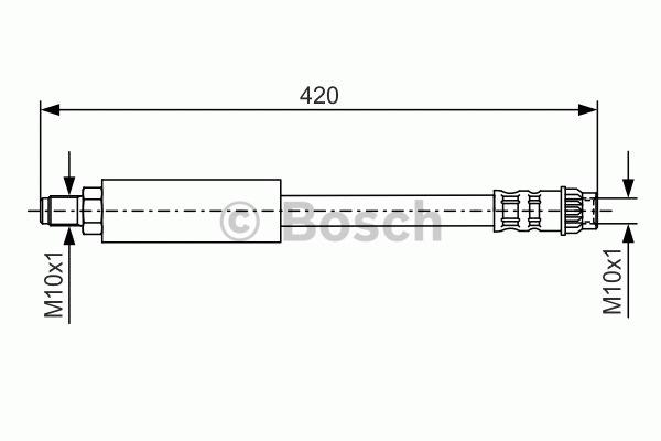 Flexible de frein - BOSCH - 1 987 476 535