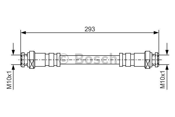 Flexible de frein - BOSCH - 1 987 476 543