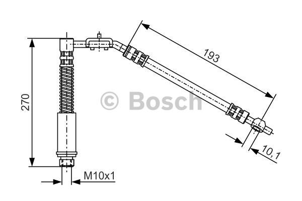 Flexible de frein - BOSCH - 1 987 476 553