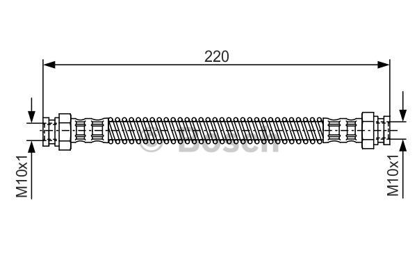 Flexible de frein - BOSCH - 1 987 476 560