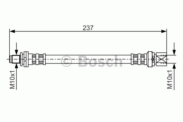 Flexible de frein - BOSCH - 1 987 476 564