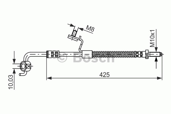 Flexible de frein - BOSCH - 1 987 476 565