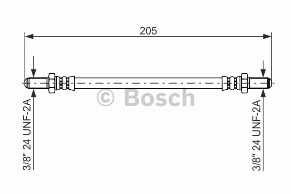 Flexible de frein - BOSCH - 1 987 476 575
