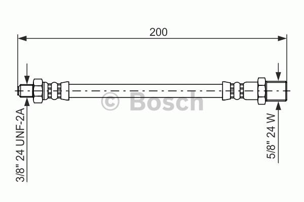Flexible de frein - BOSCH - 1 987 476 576