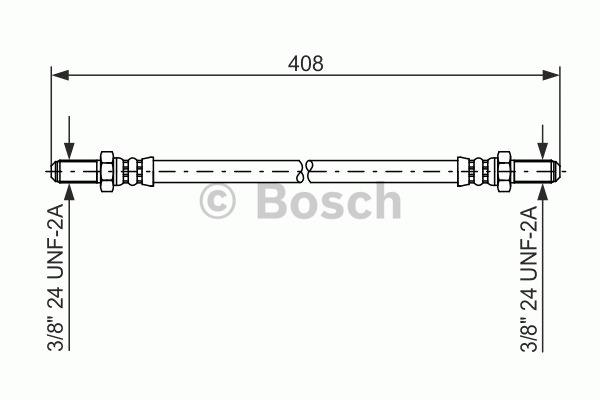 Flexible de frein - BOSCH - 1 987 476 579