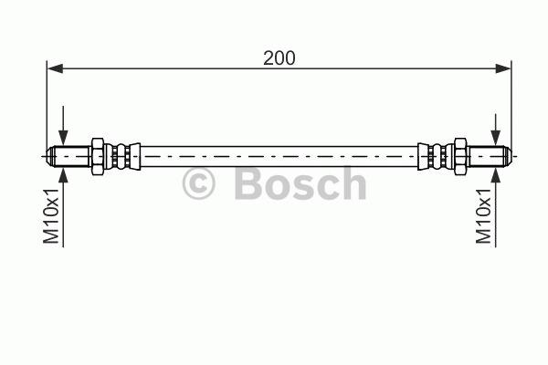 Flexible de frein - BOSCH - 1 987 476 587