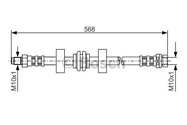 Flexible de frein - BOSCH - 1 987 476 599