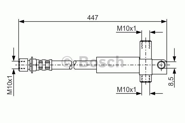 Flexible de frein - BOSCH - 1 987 476 614