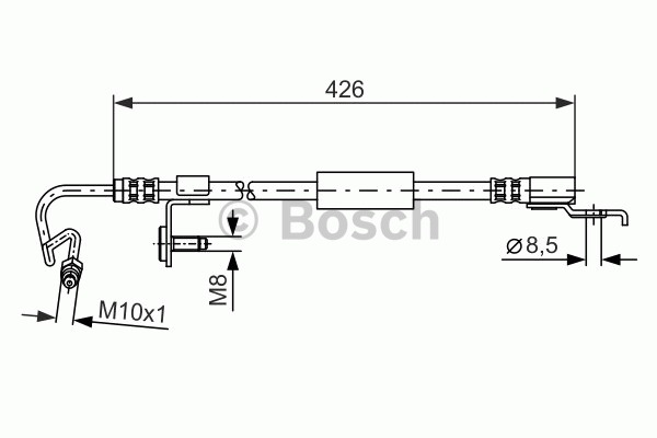 Flexible de frein - BOSCH - 1 987 476 623