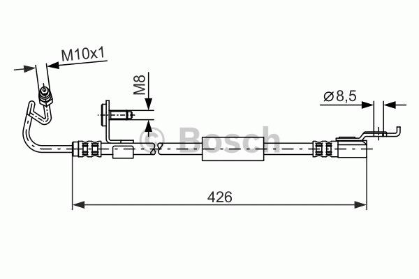 Flexible de frein - BOSCH - 1 987 476 624