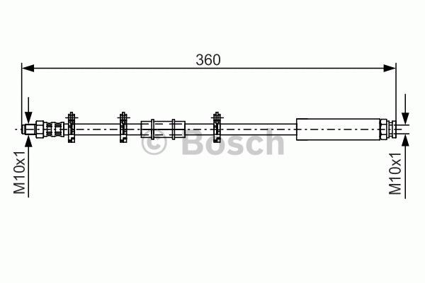 Flexible de frein - BOSCH - 1 987 476 630