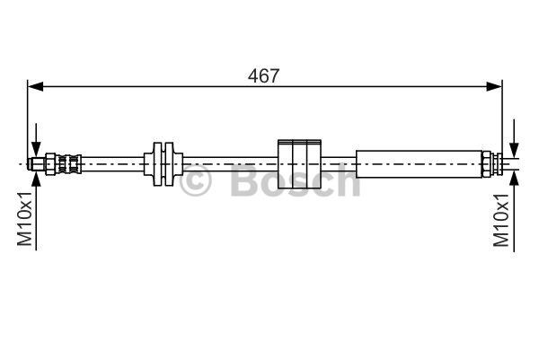 Flexible de frein - BOSCH - 1 987 476 631