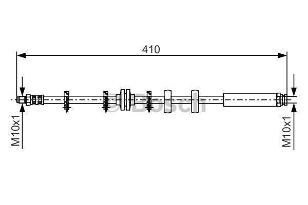Flexible de frein - BOSCH - 1 987 476 639